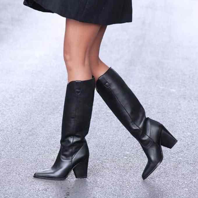 Grumman mpota dermatinh mavrh 1 - Γυναικεία Παπούτσια - Προτάσεις Μόδας από τα Louizidis Shoes