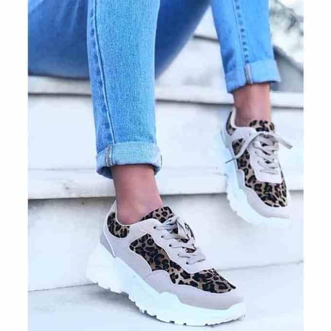 Doca sneakers leopard beige 6 1 1 - Γνωρίστε τα Animal Print Sneakers της Droca