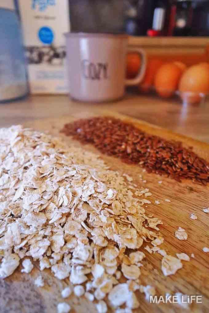 pancakes recipe materials - Φτιάχνουμε τις πιο υγιεινές pancakes με βρώμη και λιναρόσπορο
