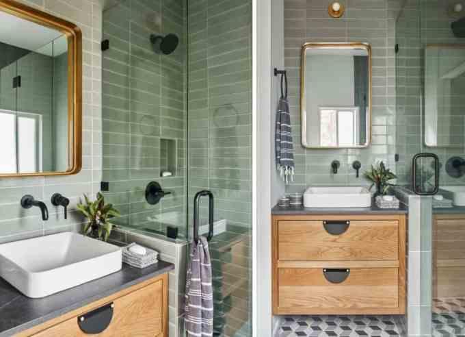 green bathroom 2 - Τα κυρίαρχα χρώματα για το μπάνιο. 5 ιδέες που θα λατρέψεις