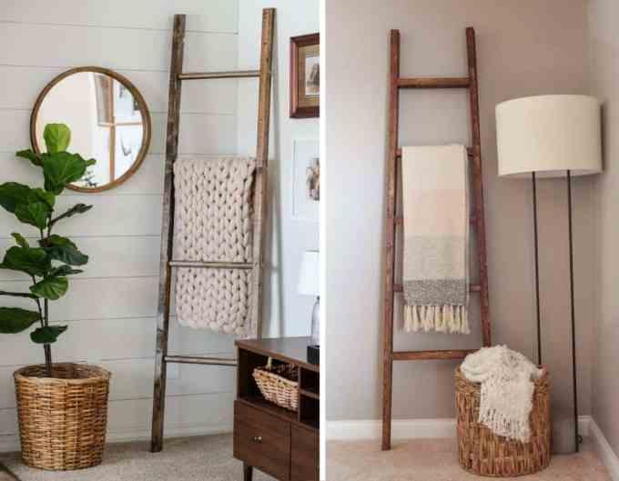 ladder decoration 2 - Πως μπορείς να χρησιμοποιήσεις μια σκάλα στη διακόσμηση σπιτιού