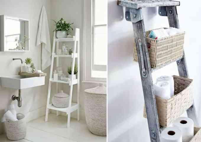 ladder decoration 3 - Πως μπορείς να χρησιμοποιήσεις μια σκάλα στη διακόσμηση σπιτιού
