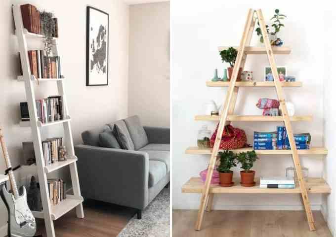 ladder decoration 4 - Πως μπορείς να χρησιμοποιήσεις μια σκάλα στη διακόσμηση σπιτιού