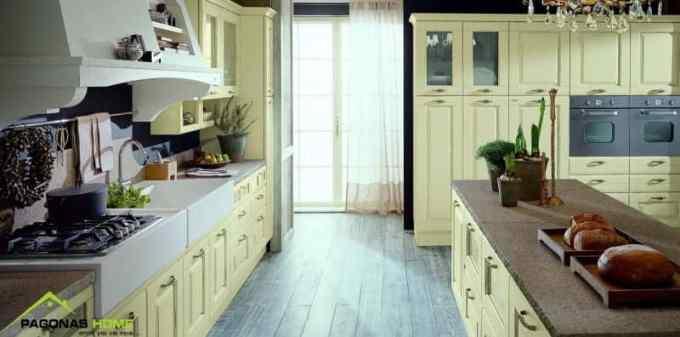 klasiki kouzina rosa - 6 Βασικά στοιχεία που χαρακτηρίζουν τις κλασικές κουζίνες