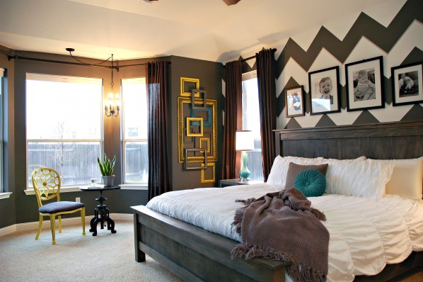 title | Gray Yellow And Teal Bedroom
