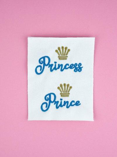 Stickdateien Set: Princess und Prince