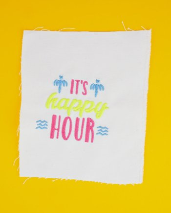 Stickdatei »IT'S HAPPY HOUR«