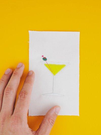 Stickdatei Cocktail Martini