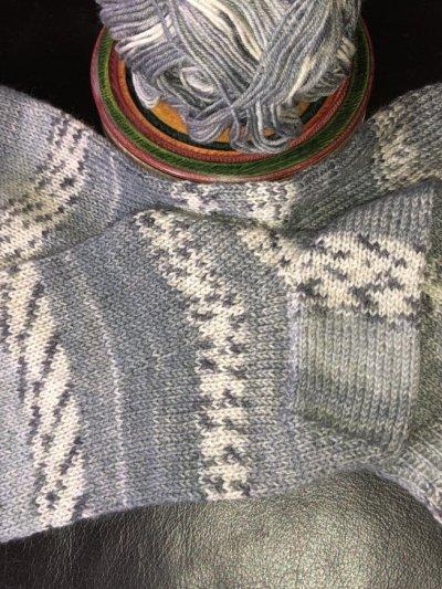 Socken gestrickt von Manuela