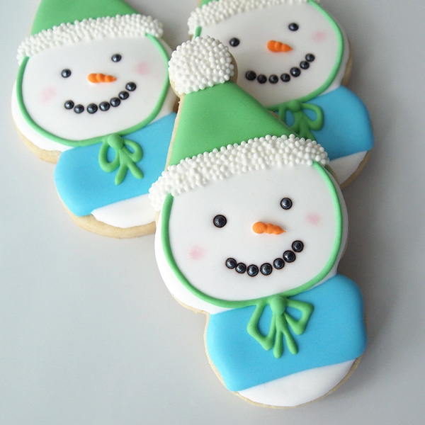 Big-Headed Snowmen Cookies
