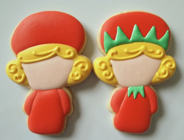 Elf Girl Cookies from a Snowman Cutter