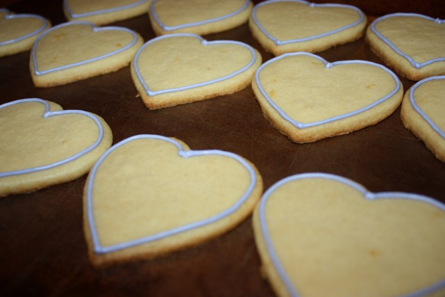 Sparkly Heart Sugar Cookies