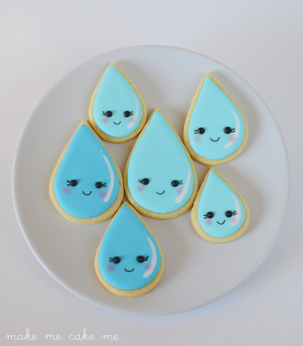 Raindrop Cookies for April Showers and Baby Showers!
