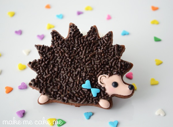 He or She? Hedge Your Bets! Gender Reveal Hedgehog Cookies