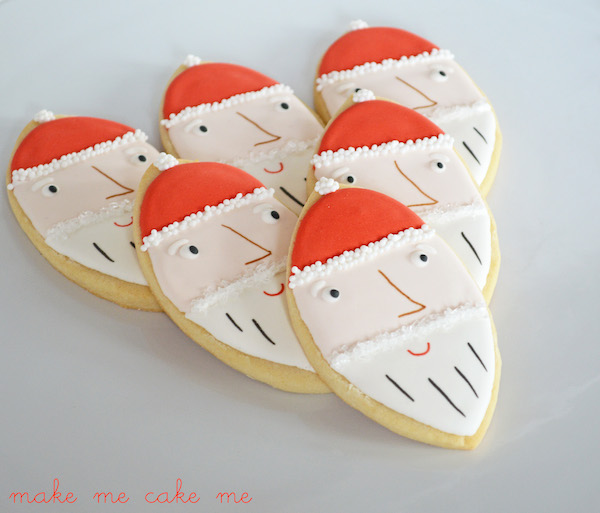 Elfin-style Santa Claus Cookies from a Football Cutter!