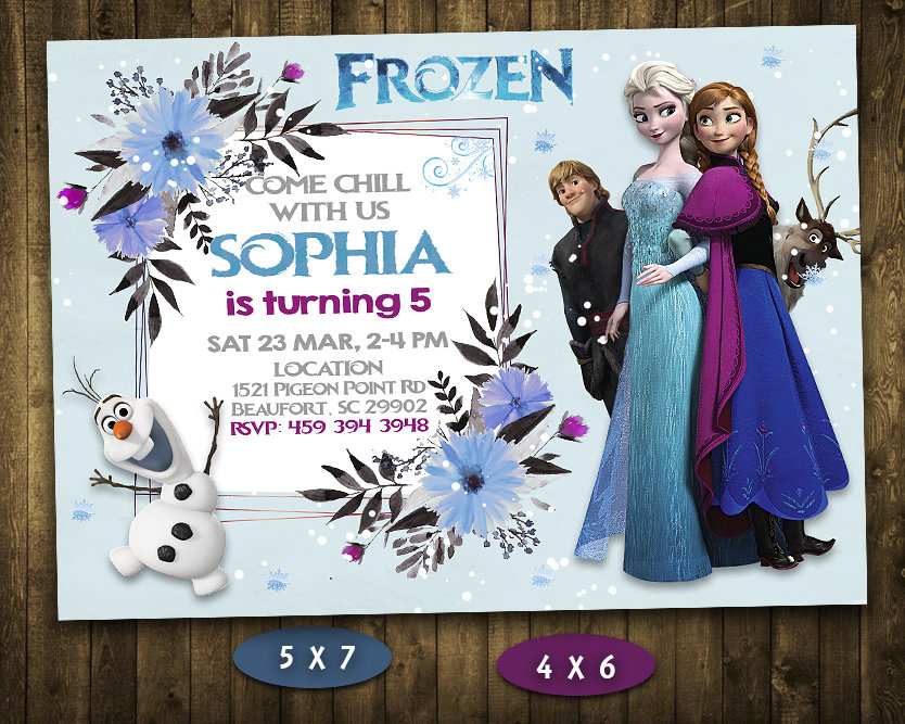 frozen birthday invitations girl frozen invite frozen birthday party frozen printable frozen card diy