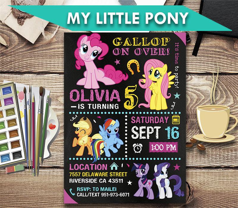 my little pony invitation my little pony invite my little pony birthday party my little pony printable my little pony card diy