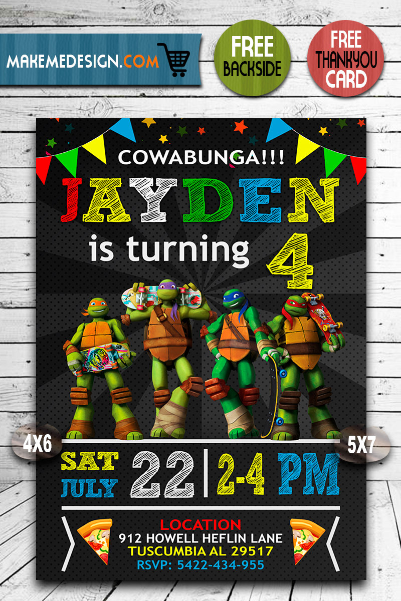 ninja turtles invitation tmnt ninja turtles invite ninja turtles birthday party ninja turtles printable diy