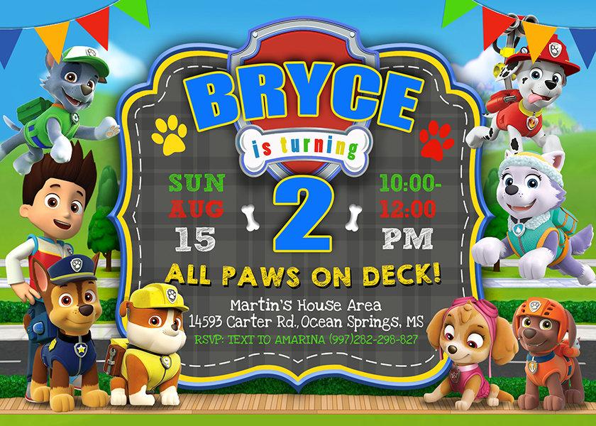 paw patrol birthday invite template paw patrol invite paw patrol birthday party printable paw patrol