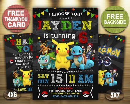 pokemon birthday invites printable
