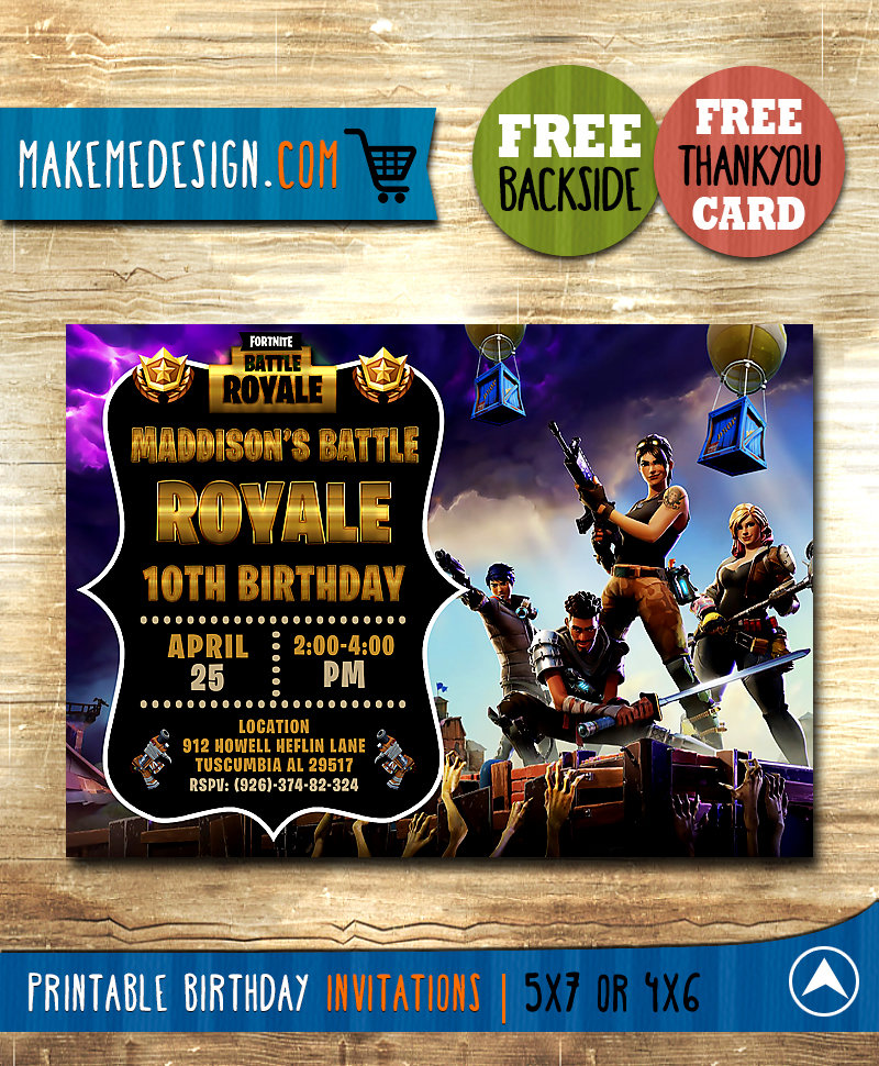 fortnite birthday party invitations template fortnite invitations template fortnite party invite template