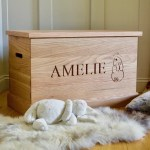 Personalised Oak Toy Boxes Toy Chests Makemesomethingspecial
