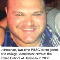 Jonathan, Two-time Donor #doublehero