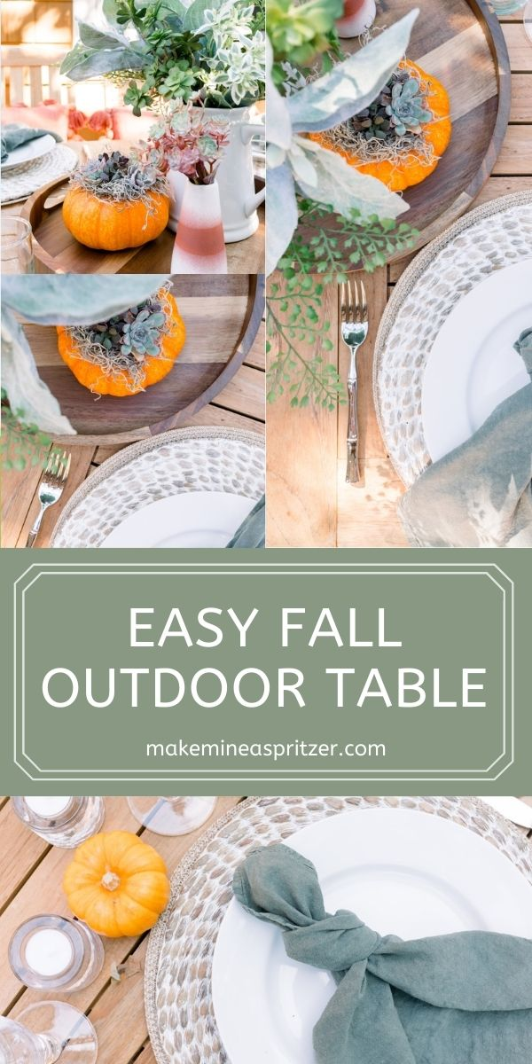Easy Fall Outdoor Table