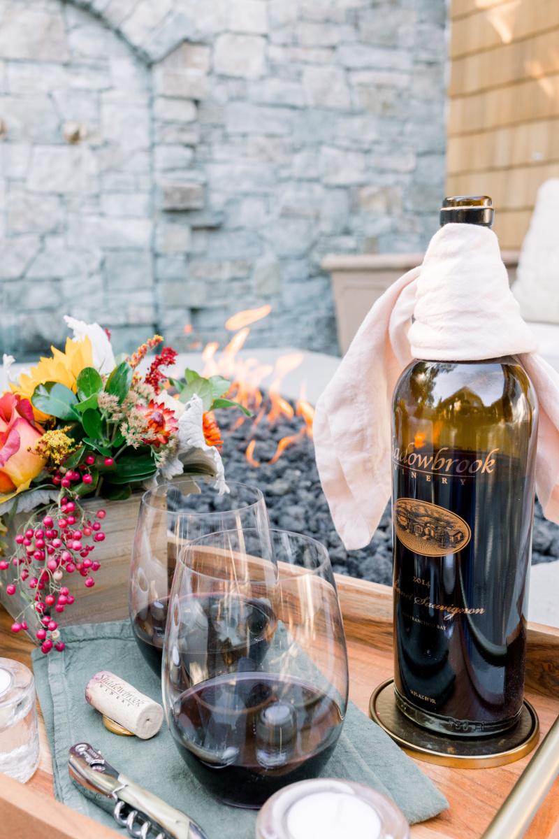 Fire pit Wine