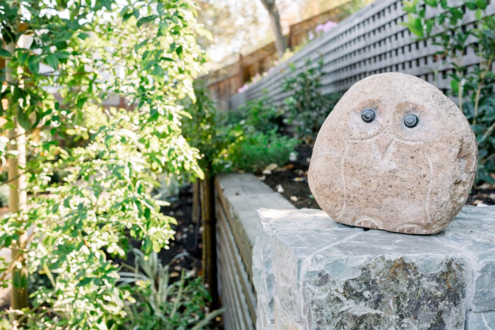 Retaining Walls and Stone Owl