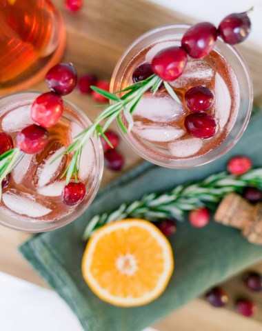 Cranberry Tequila Punch Glasses