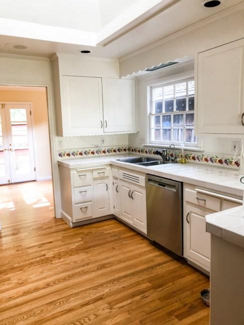 White Kitchen Before Renovation