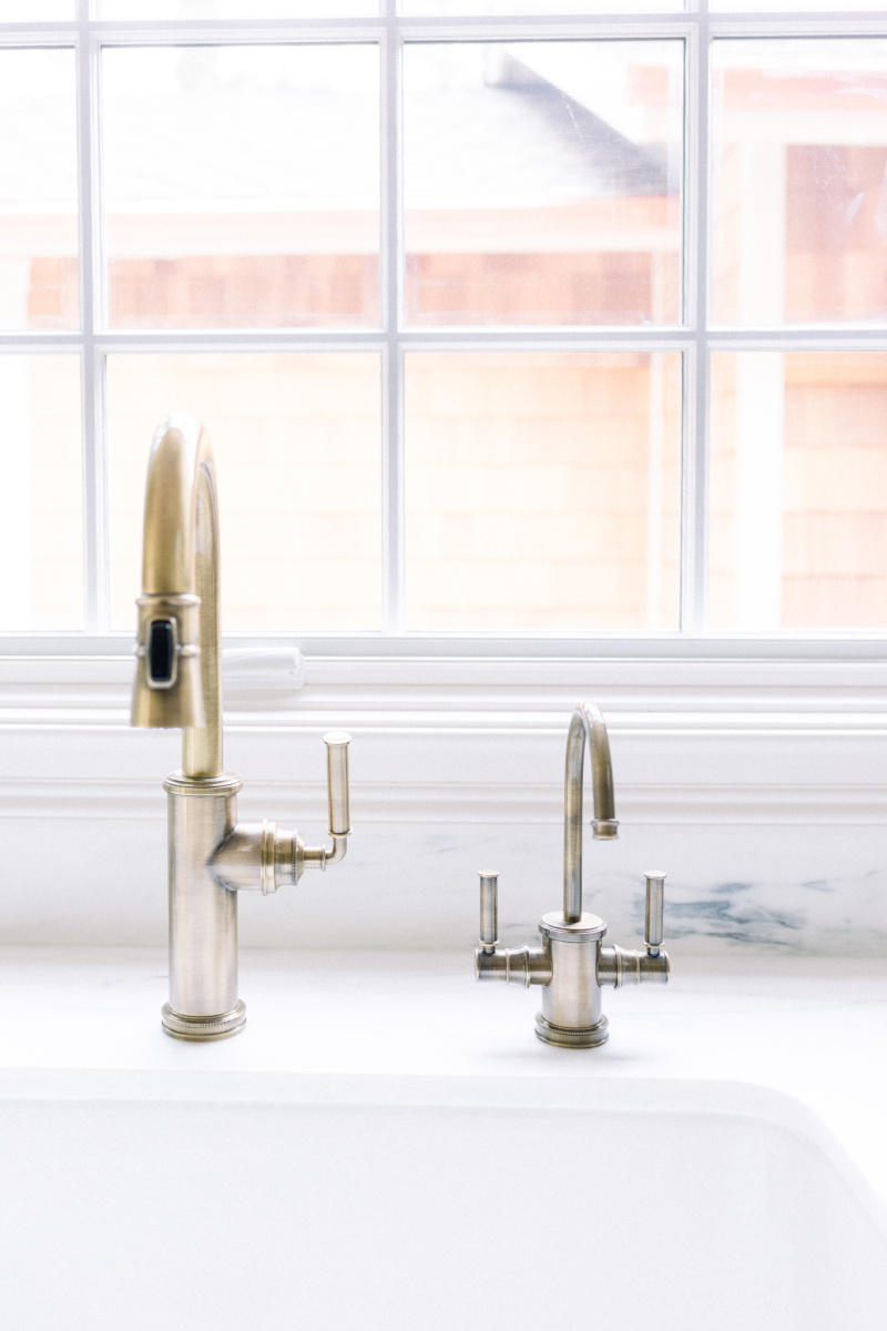 Classic Brass Faucet and Hot Water Dispenser