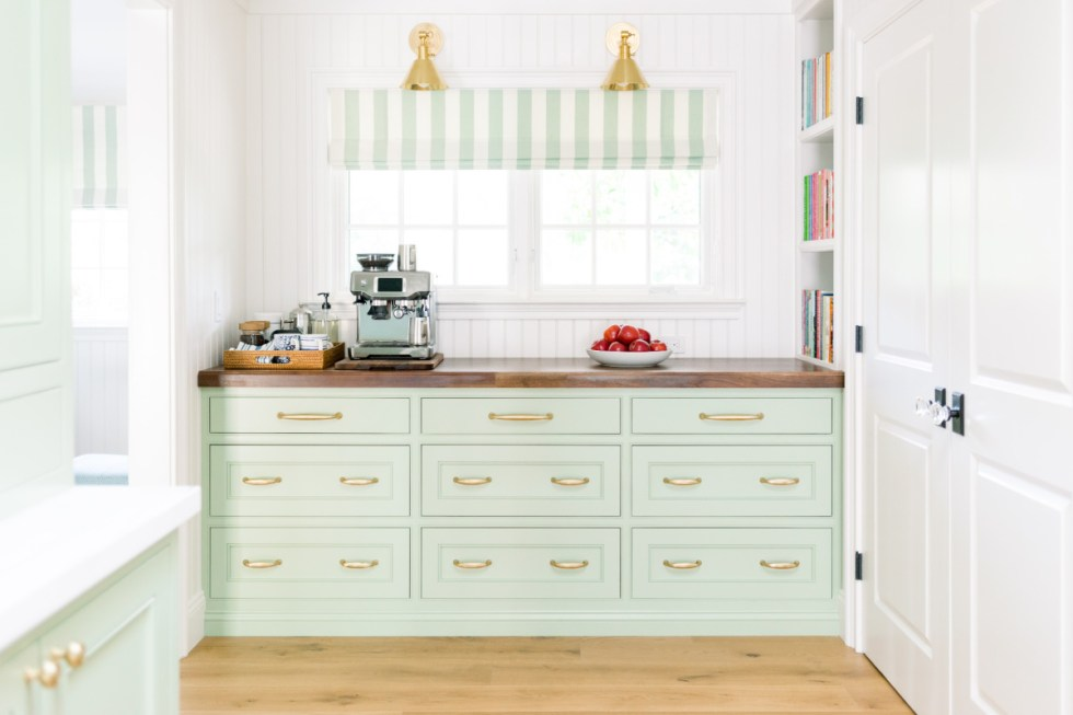 Built-in Kitchen Buffet and Coffee Station