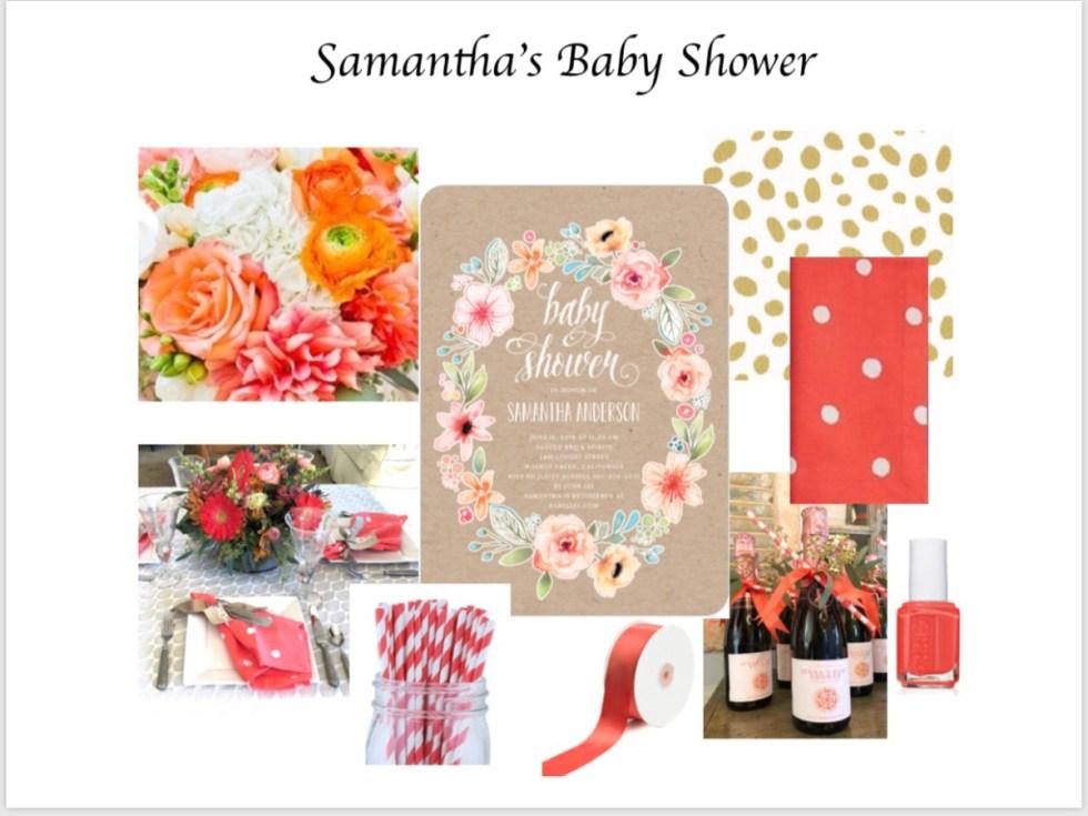 Baby Girl Shower Mood Board