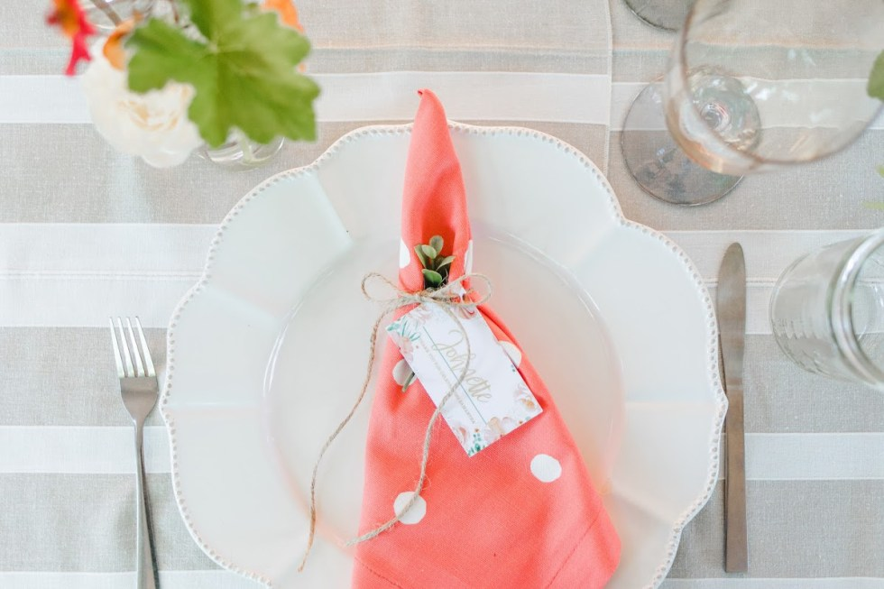 Baby Shower Place Setting