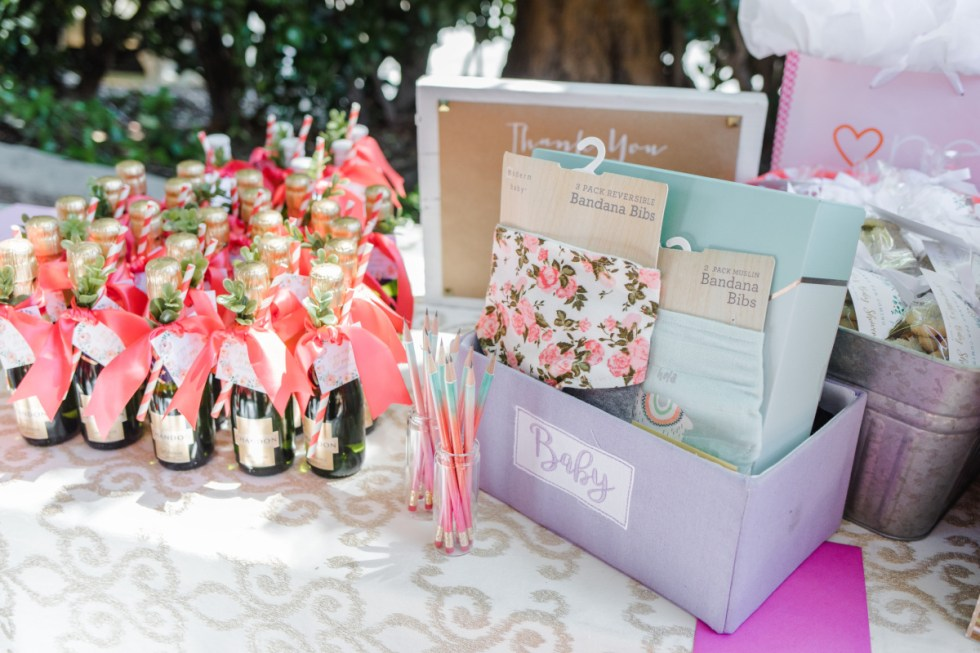 Baby Shower Favor and Gift Table