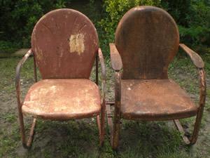 http://cgi.ebay.com/Vintage-Pair-Metal-Lawn-Porch-Patio-Garden-Chairs_W0QQitemZ220420159615QQcmdZViewItemQQptZLH_DefaultDomain_0?hash=item335210b87f&_trksid=p3286.c0.m14&_trkparms=65%3A12%7C66%3A2%7C39%3A1%7C72%3A1205%7C240%3A1318%7C301%3A0%7C293%3A1%7C294%3A50