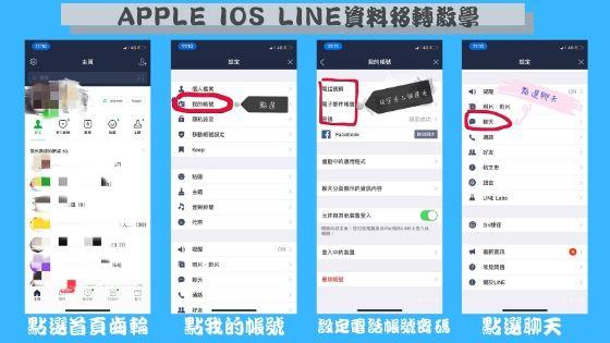 IOS & Android LINE資料備份 移轉教學