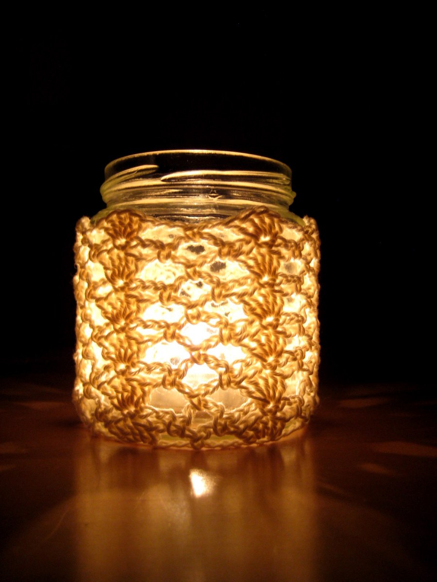 Crochet Jar Cover I Shells And Lace Make My Day Creative