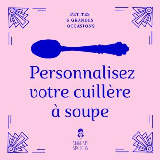 Cuillère à soupe personnalisée et gravée à la main
