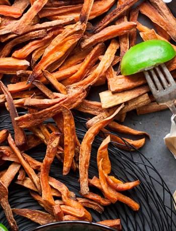 Lime spiced sweet potato fries