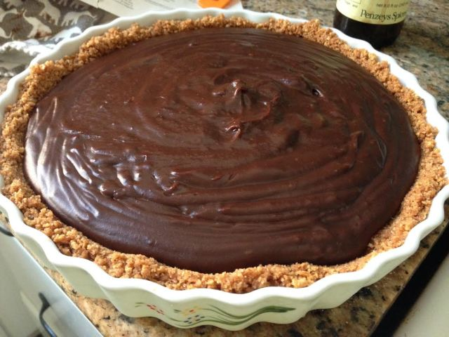 chocolate pie finishede