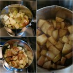 Apple Compote in the making