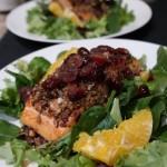 Orange Cranberry Pecan Salmon