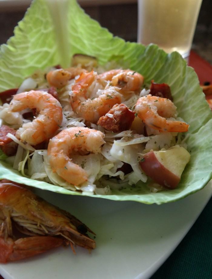 Sweet & Sour Spicy Shrimp Skillet Slaw