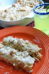 Crawfish Etouffee Enchiladas