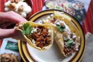California Roasted Walnut and Cauliflower Tacos