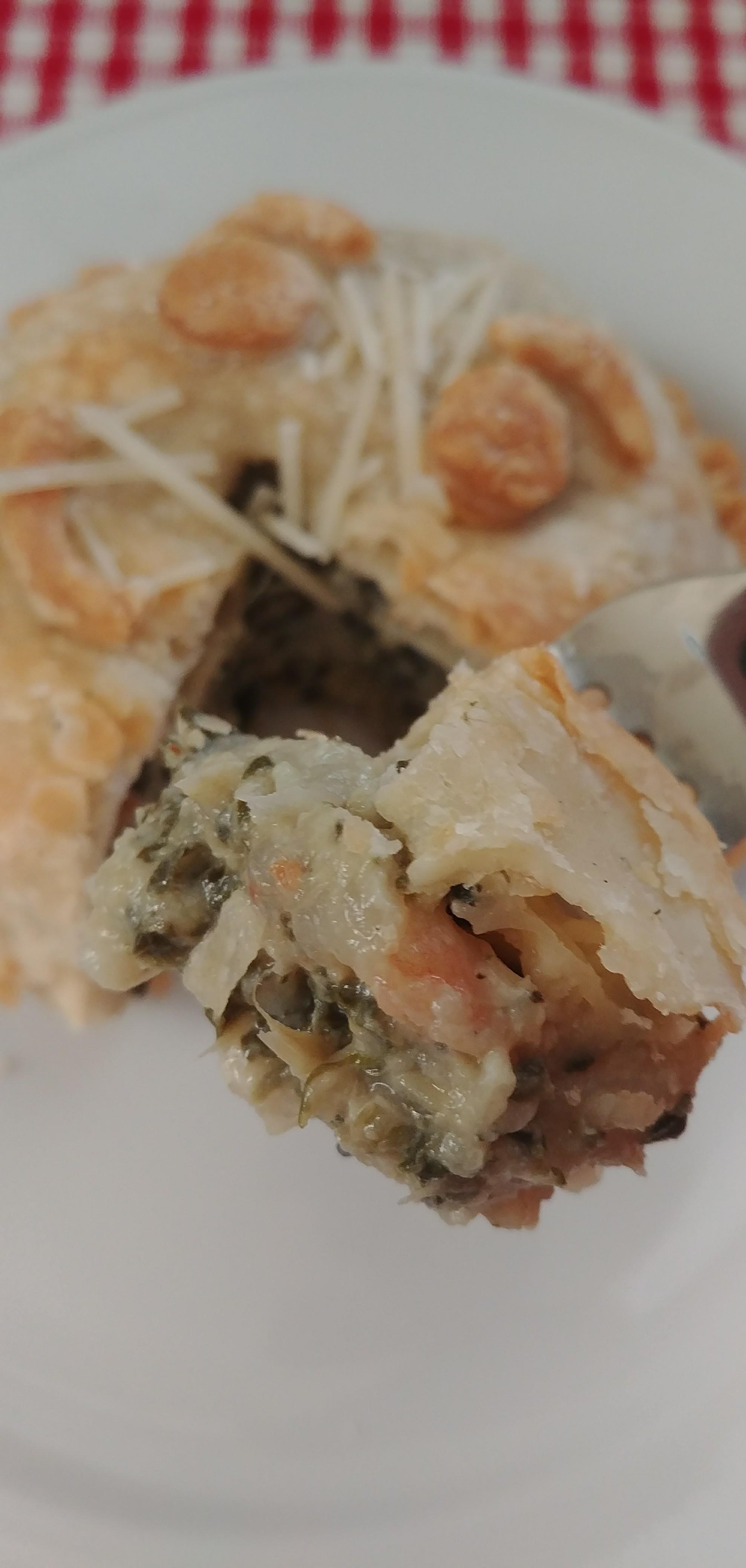 Spinach & Artichoke Dip Shrimp Pot Pie