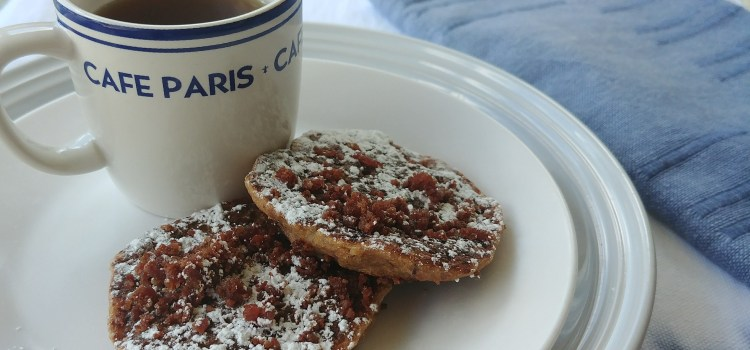 """Red Beans & Rice Cornbread Pancakes with Andouille """"Bacon"""""""